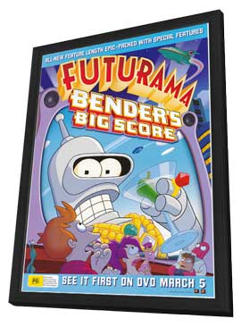 Futurama: Bender's Big Score - 27 x 40 TV Poster - Australian Style A - in Deluxe Wood Frame