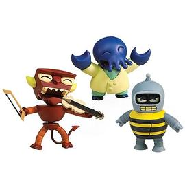 Futurama - Tineez Series 1 Wave 2 Stylized Mini-Figure 3-Pack
