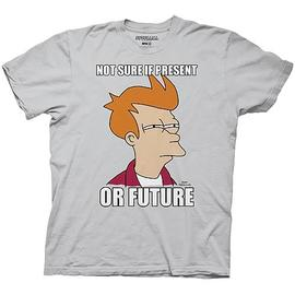 Futurama - Not Sure if Present or Future Silver T-Shirt