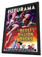 Futurama: The Beast with a Billion Backs - 27 x 40 Movie Poster - Style A - in Deluxe Wood Frame