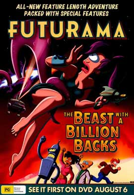 Futurama: The Beast with a Billion Backs - 11 x 17 Movie Poster - Australian Style A
