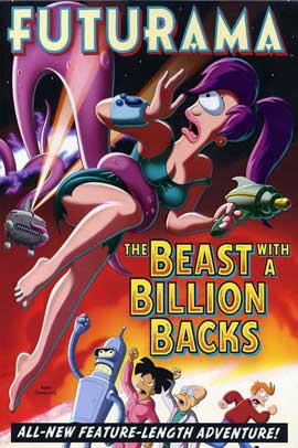 Futurama: The Beast with a Billion Backs - 11 x 17 Movie Poster - Style B