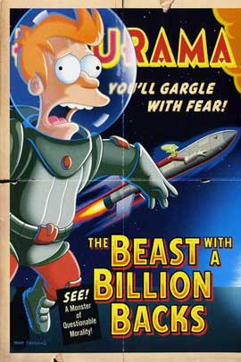 Futurama: The Beast with a Billion Backs - 11 x 17 Movie Poster - Style C