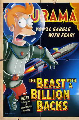 Futurama: The Beast with a Billion Backs - 27 x 40 Movie Poster - Style B