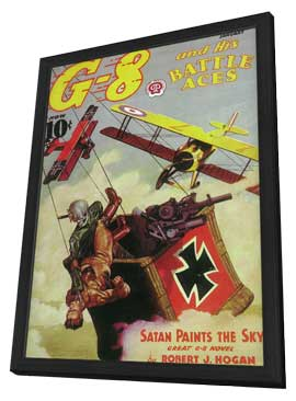 G-8 And His Battle Aces (Pulp) - 11 x 17 Pulp Poster - Style A - in Deluxe Wood Frame