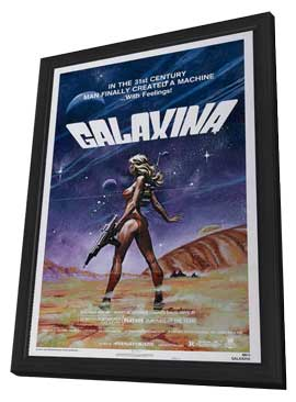 Galaxina - 27 x 40 Movie Poster - Style C - in Deluxe Wood Frame