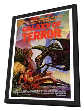 Galaxy of Terror - 27 x 40 Movie Poster - Style A - in Deluxe Wood Frame