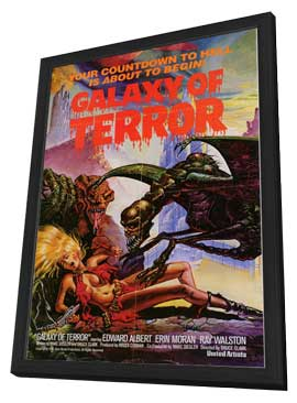Galaxy of Terror - 11 x 17 Movie Poster - Style A - in Deluxe Wood Frame