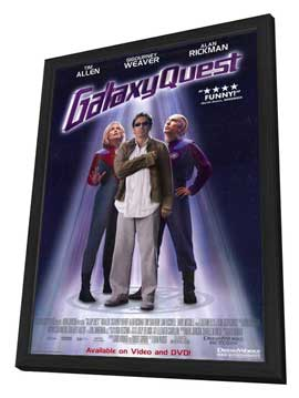 Galaxy Quest - 27 x 40 Movie Poster - Style B - in Deluxe Wood Frame