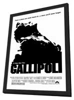Gallipoli - 11 x 17 Movie Poster - Australian Style A - in Deluxe Wood Frame