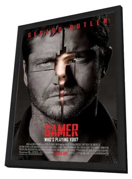 Gamer - 11 x 17 Movie Poster - Style A - in Deluxe Wood Frame