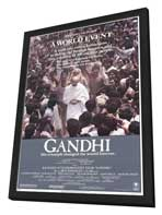 Gandhi - 27 x 40 Movie Poster - Style A - in Deluxe Wood Frame