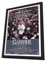 Gandhi - 11 x 17 Movie Poster - Style A - in Deluxe Wood Frame
