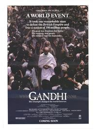 Gandhi - 43 x 62 Movie Poster - Bus Shelter Style B