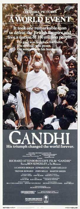Gandhi - 14 x 36 Movie Poster - Insert Style A