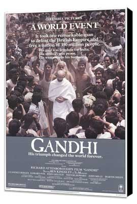 Gandhi - 27 x 40 Movie Poster - Style A - Museum Wrapped Canvas