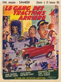 Gang des tractions-arri�re, Le - 11 x 17 Movie Poster - Belgian Style A
