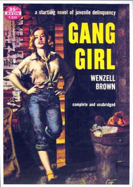 Gang Girl - 11 x 17 Retro Book Cover Poster