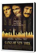 Gangs of New York - 27 x 40 Movie Poster - Style A - Museum Wrapped Canvas