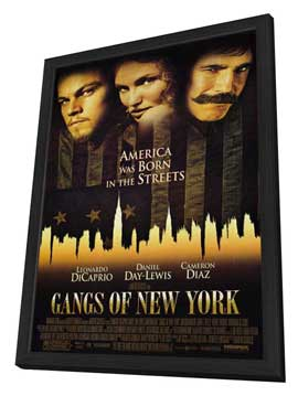 Gangs of New York - 11 x 17 Movie Poster - Style A - in Deluxe Wood Frame