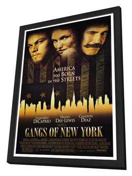 Gangs of New York - 27 x 40 Movie Poster - Style A - in Deluxe Wood Frame