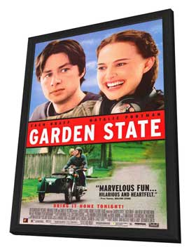 Garden State - 27 x 40 Movie Poster - Style A - in Deluxe Wood Frame