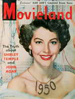 Ava Gardner - 11 x 17 Movieland Magazine Cover 1950's
