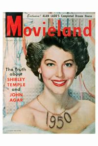 Ava Gardner - 27 x 40 Movie Poster - Movieland Magazine Cover 1950's