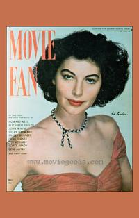 Ava Gardner - 27 x 40 Movie Poster - Movie Fan Magazine Cover 1940's Style A