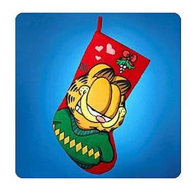 Garfield - 19-Inch Mistletoe Applique Stocking