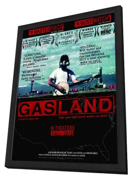 GasLand - 11 x 17 Movie Poster - Style C - in Deluxe Wood Frame