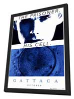 Gattaca - 27 x 40 Movie Poster - Style D - in Deluxe Wood Frame