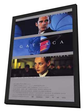 Gattaca - 27 x 40 Movie Poster - Style C - in Deluxe Wood Frame