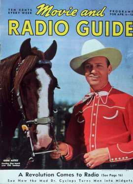 Gene Autry - 11 x 17 Movie Mirror Magazine Cover 1940's Style A