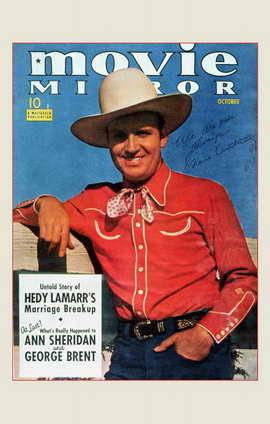 Gene Autry - 11 x 17 Movie Mirror Magazine Cover 1940's Style B
