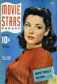 Gene Tierney - 27 x 40 Movie Poster - Movie Stars Parade Magazine Cover 1940's