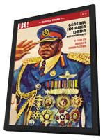 General Idi Amin Dada: A Self Portrait - 11 x 17 Movie Poster - Style A - in Deluxe Wood Frame