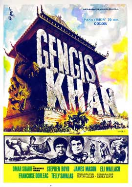 Genghis Khan - 11 x 17 Movie Poster - Spanish Style A