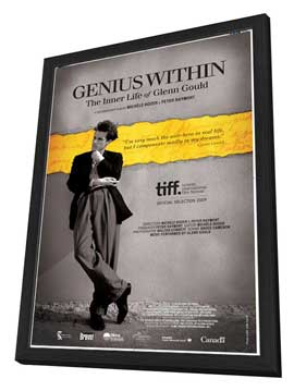 Genius Within: The Inner Life of Glenn Gould - 27 x 40 Movie Poster - Canadian Style A - in Deluxe Wood Frame