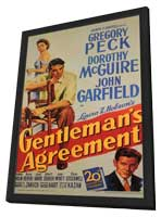 Gentleman's Agreement - 11 x 17 Movie Poster - Style A - in Deluxe Wood Frame