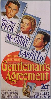 Gentleman's Agreement - 27 x 40 Movie Poster - Style B