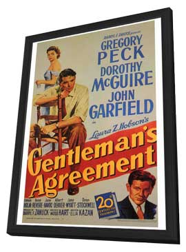Gentleman's Agreement - 27 x 40 Movie Poster - Style A - in Deluxe Wood Frame