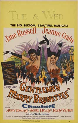 Gentlemen Marry Brunettes - 11 x 17 Movie Poster - Style B