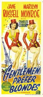 Gentlemen Prefer Blondes - 20 x 40 Movie Poster - Style A