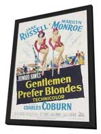 Gentlemen Prefer Blondes - 27 x 40 Movie Poster - Style B - in Deluxe Wood Frame