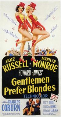 Gentlemen Prefer Blondes - 11 x 17 Movie Poster - Style C