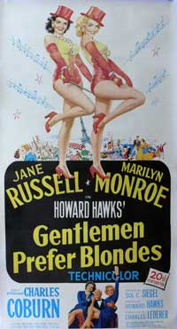 Gentlemen Prefer Blondes - 15 x 30 Movie Poster - Style A