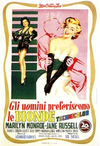Gentlemen Prefer Blondes - 11 x 17 Movie Poster - Italian Style A