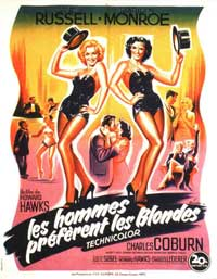 Gentlemen Prefer Blondes - 11 x 17 Movie Poster - French Style A