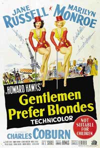 Gentlemen Prefer Blondes - 11 x 17 Movie Poster - Australian Style A